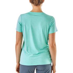 Patagonia Capilene Daily Camiseta Mujer, strait blue-bend blue x-dye